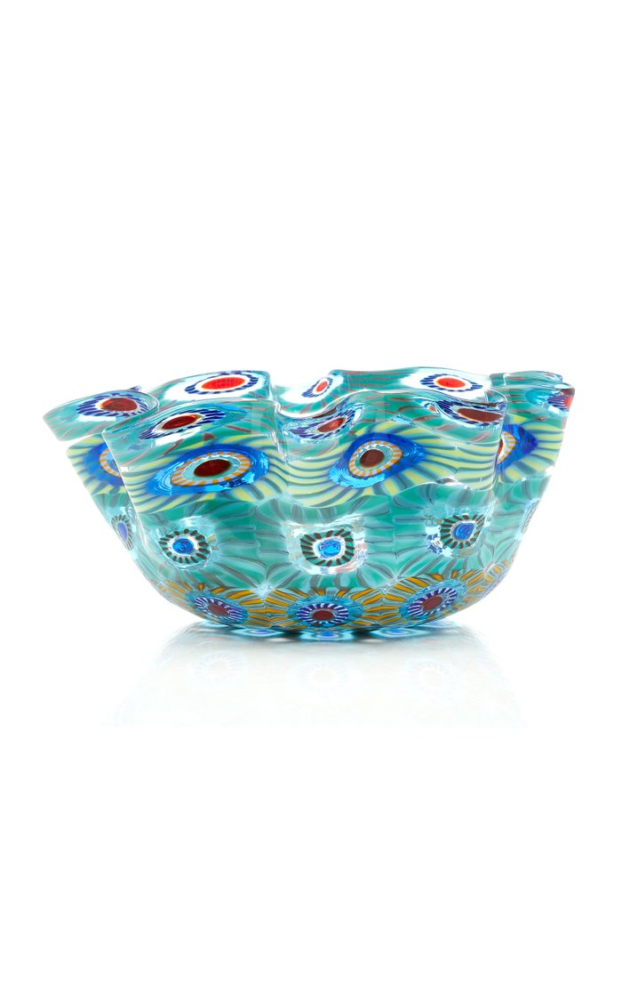 Large Wave Glass Bowl