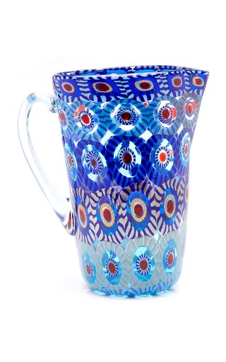 Large Murrine Glass Pitcher