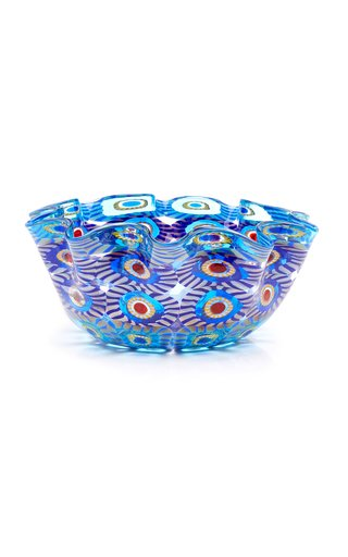 Large Wave Murrine Glass Bowl