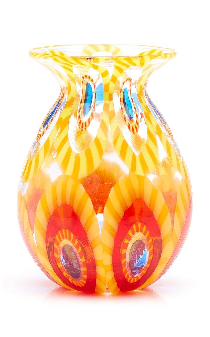 Small Murrine Glass Bud Vase