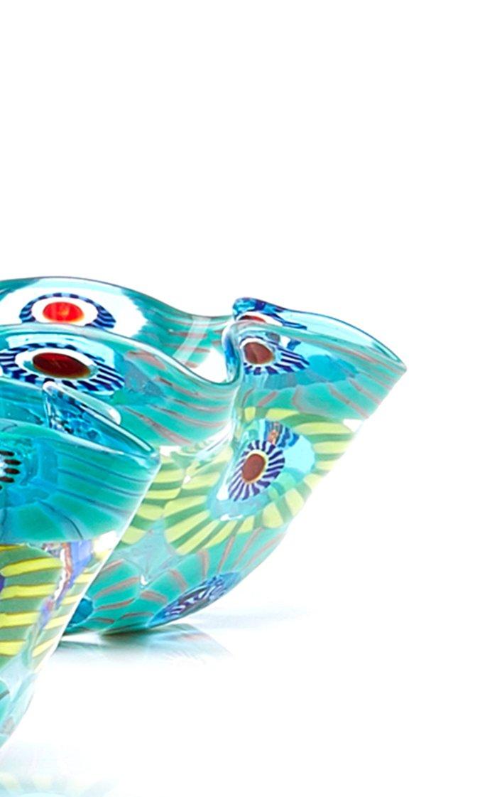Set-Of-Four Wave Murrine Glass Snack Bowls