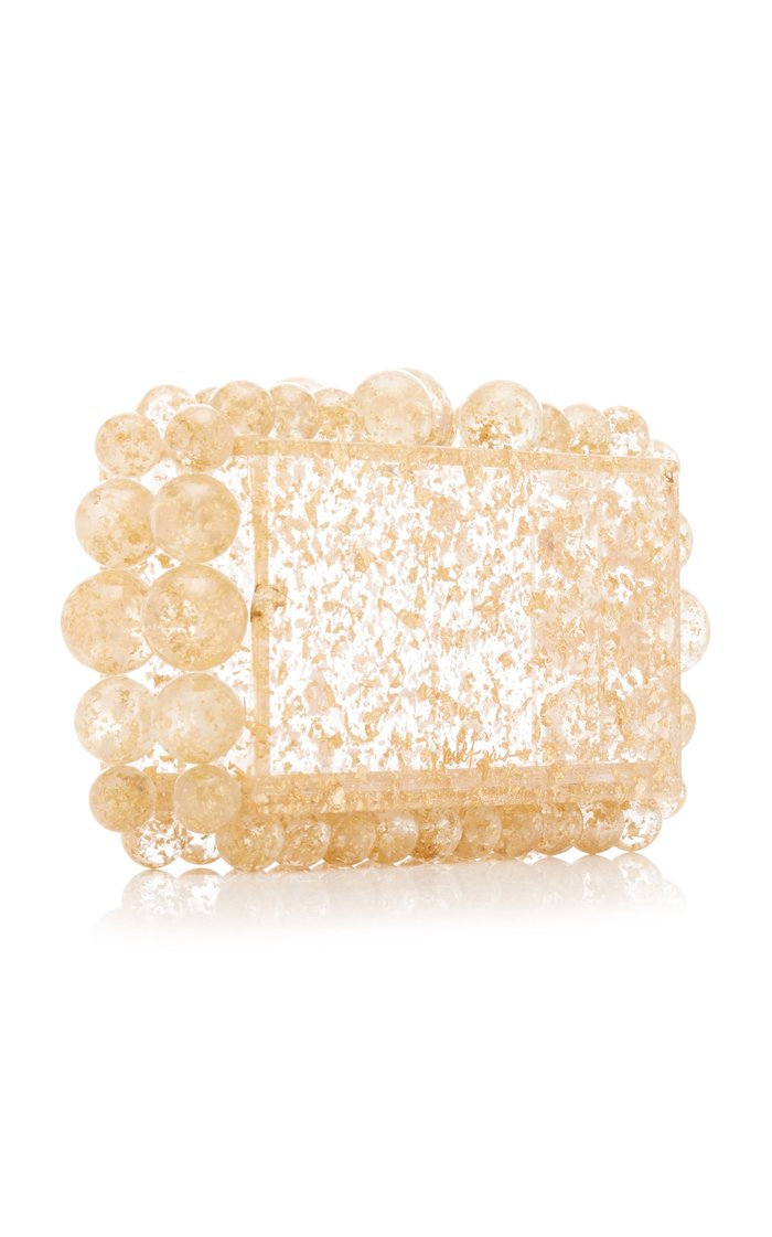 Eos Gold Speckled Acrylic Clutch