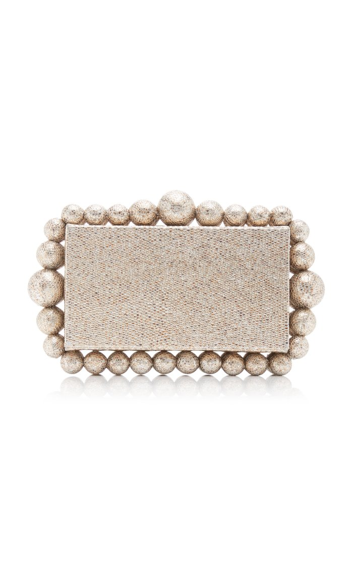 Eos Embellished Metallic Leather Clutch