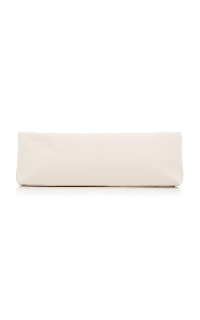 Reza Oversized Leather Clutch