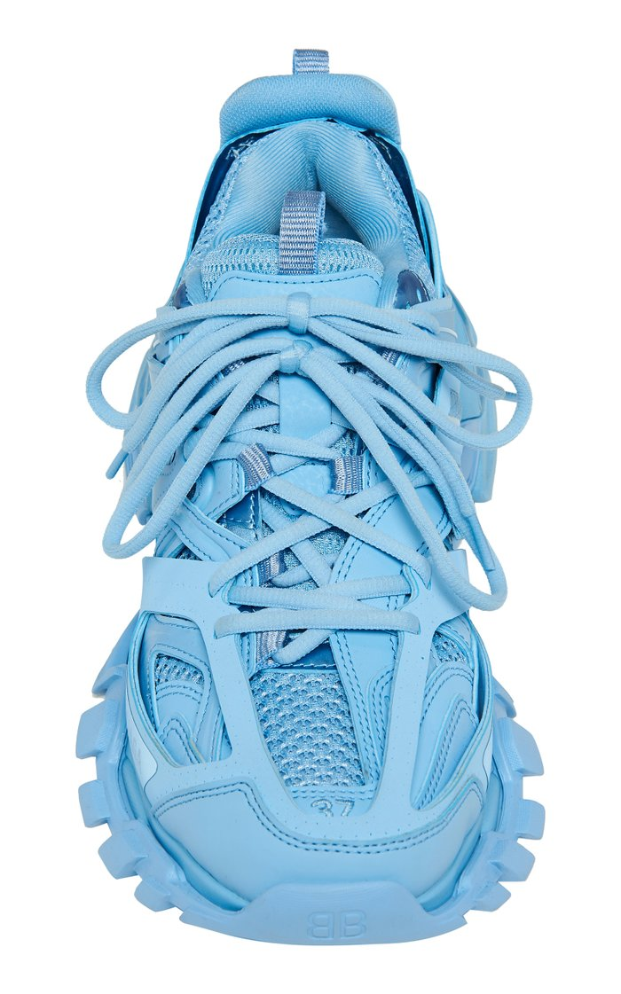Track Leather and Mesh Sneakers