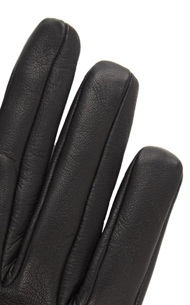 Fetish Silk-Lined Leather Gloves