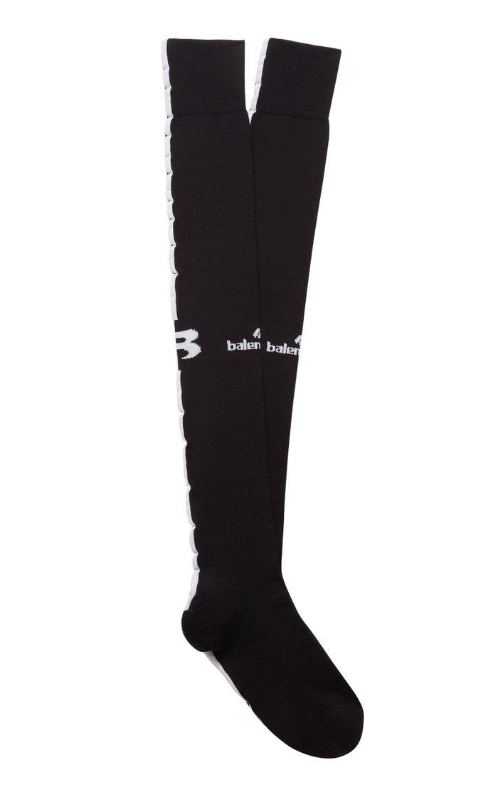 Logo-Embellished Jersey Socks