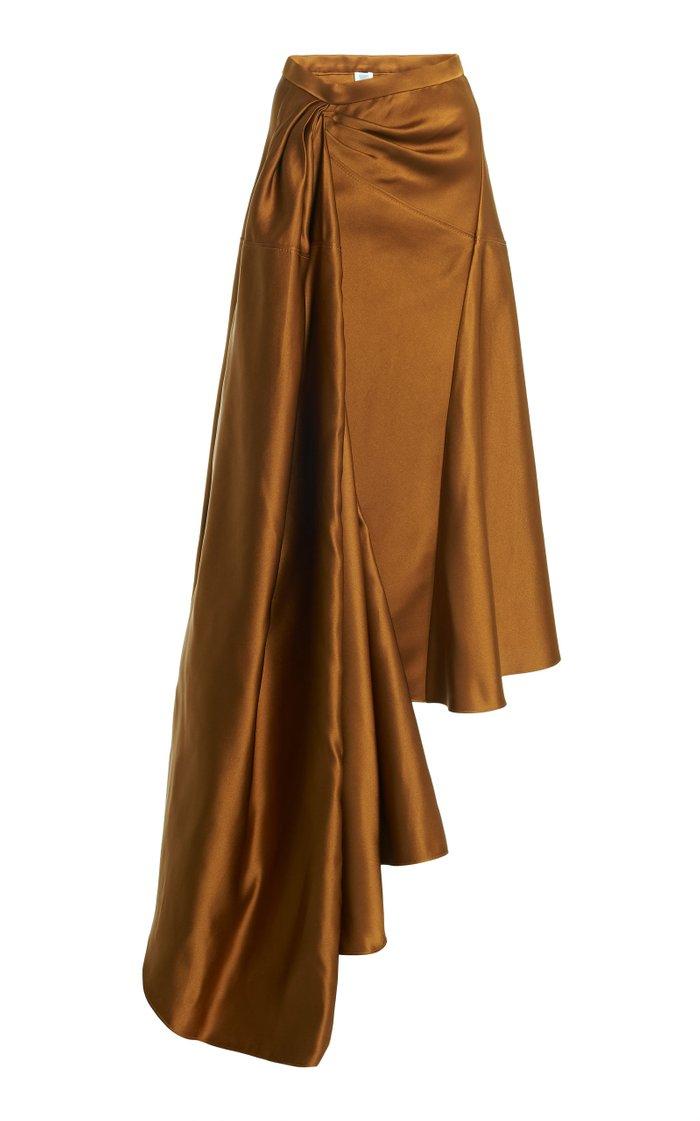 Asymmetric Silk Skirt