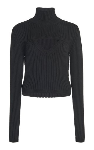 Thousand-In-One-Ways Wool-Blend Turtleneck Top
