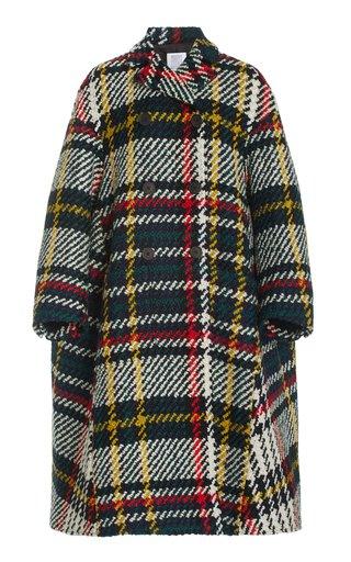 Plaid Wool-Blend Peacoat