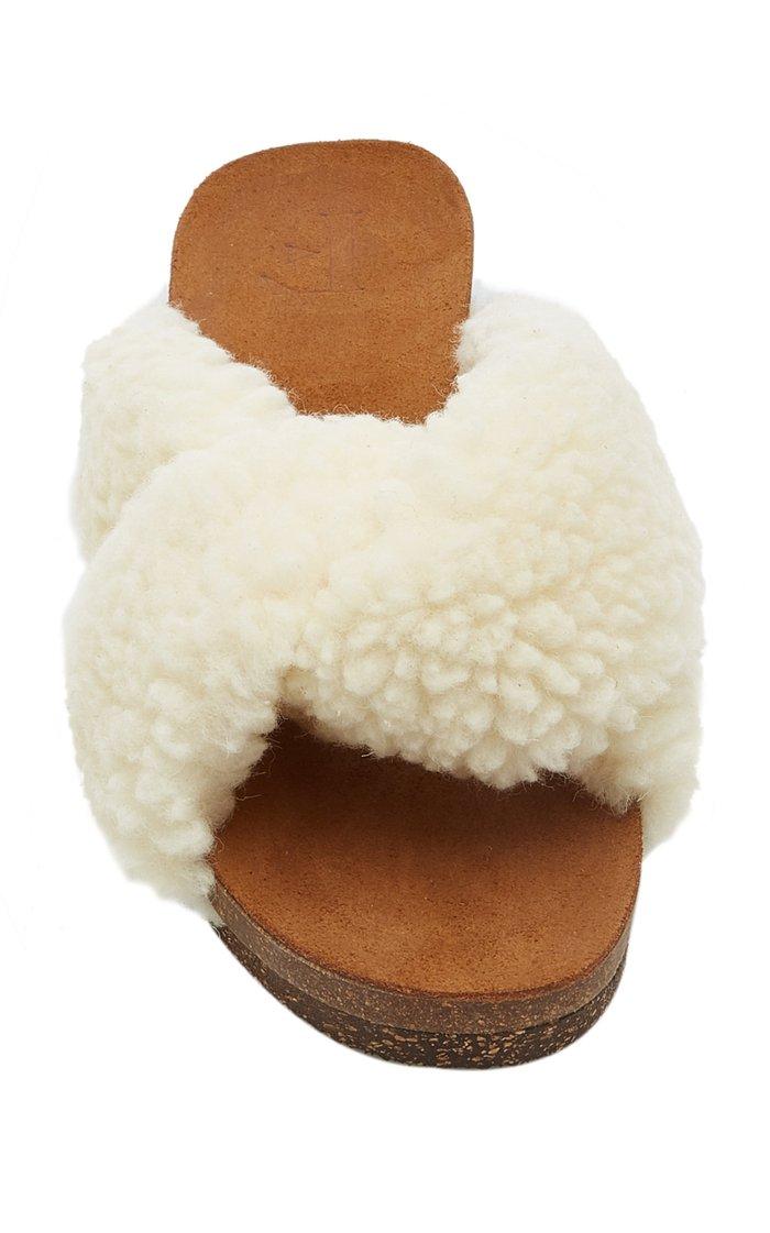 Lou Faux Fur Sandals