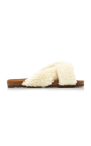 Lou Faux Fur Sandals