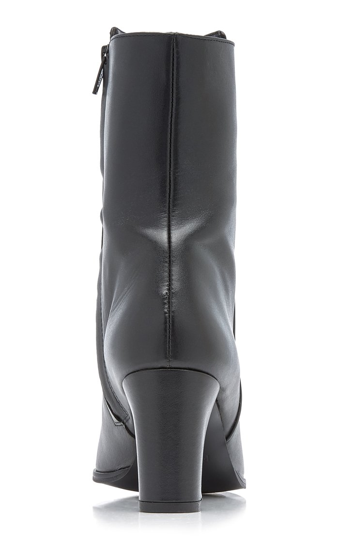 Teddie Leather Ankle Boots