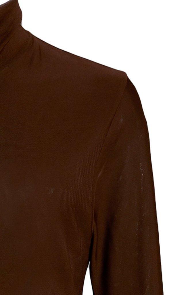 Mock-Neck Jersey Maxi Dress