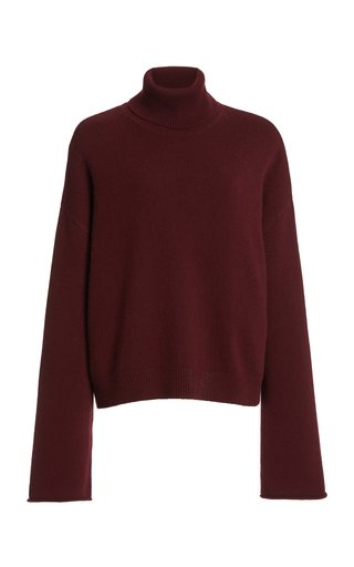 La Collection Alicia Oversized Cashmere Turtleneck Sweater In Neutral