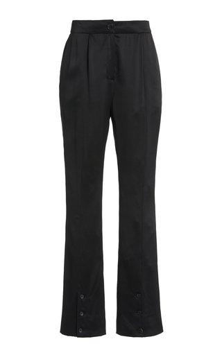 Namika Silk Satin Split-Leg Trousers