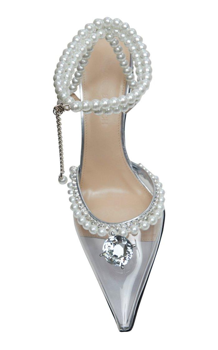Diamond Of Elizabeth Embellished Leather Pumps