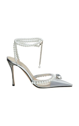 Diamond Of Elizabeth Embellished Leather Pumps