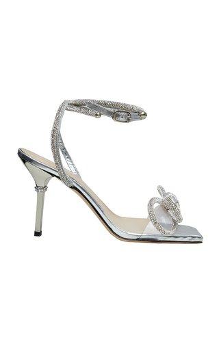 Crystal Bow-Embellished Sandals