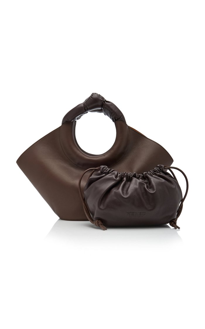 Castell Medium Leather Top-Handle Bag