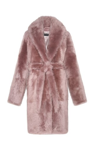 The Aurora Belted Shearling Coat