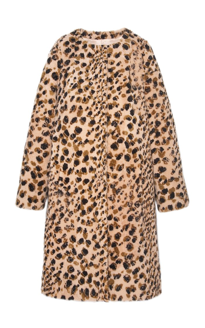 The Maxine Printed Shearling Coat