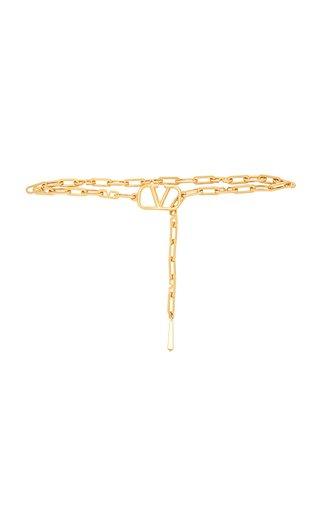 Valentino Garavani VLogo Brass Chain Belt
