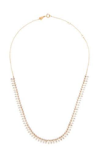 Half Riviera 14K Yellow Gold Diamond Necklace