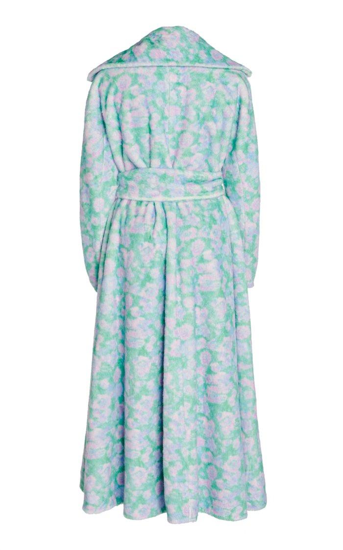 Marlene Floral Print Faux Fur Coat