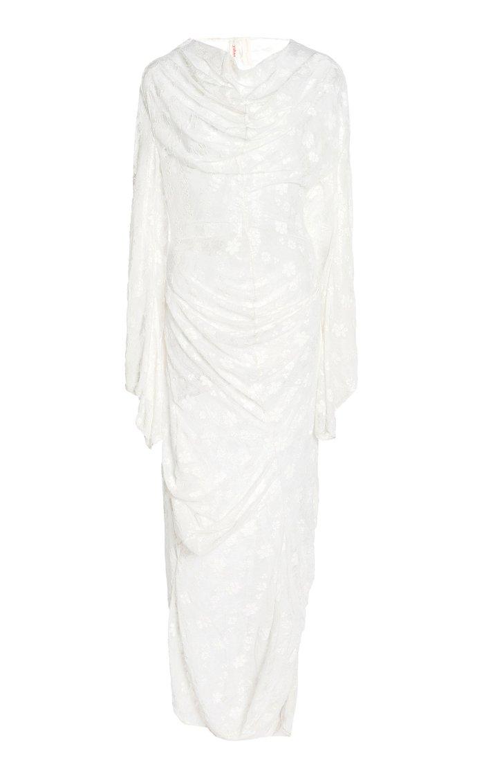 Jae Draped Floral Jersey Maxi Dress