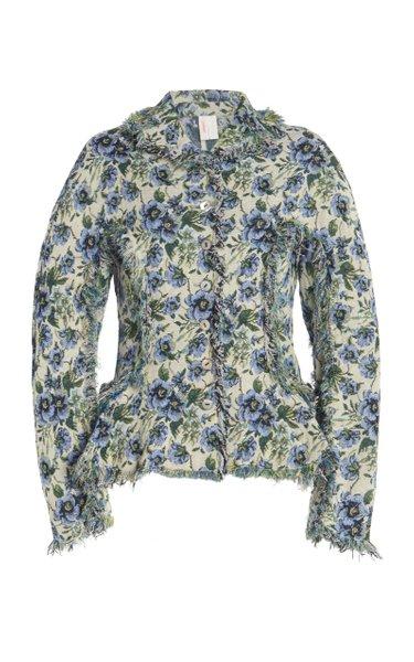 Signe Fringed Floral Jacquard Jacket