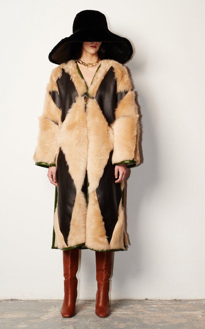 Herdwick Patchwork Shearling Coat