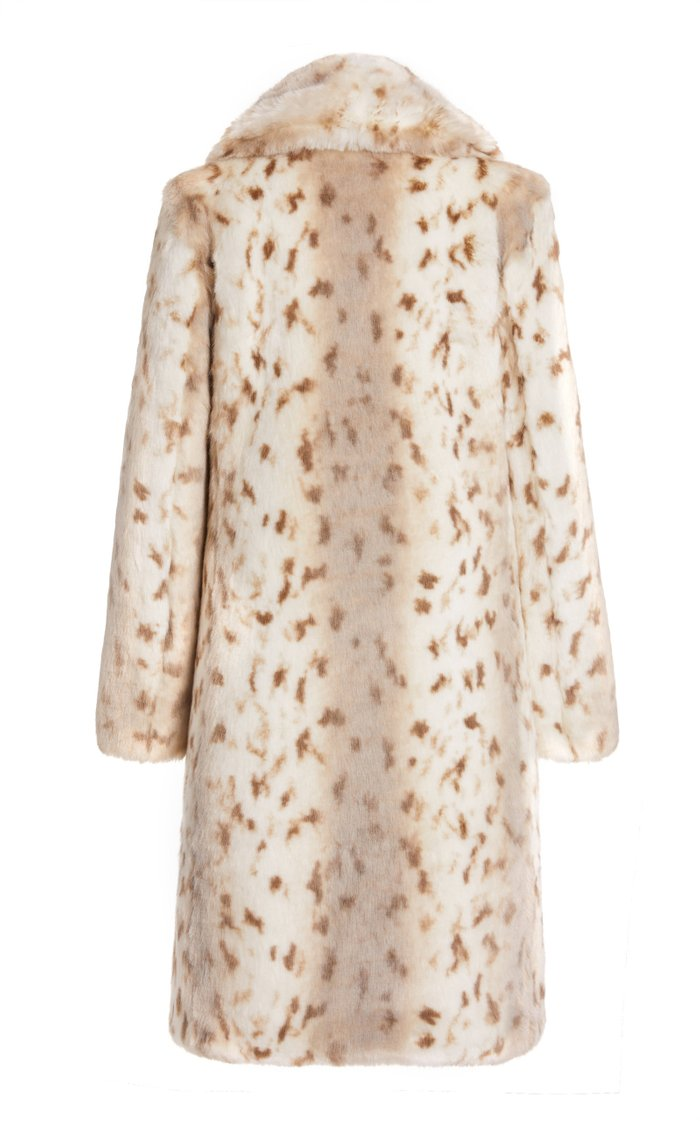 Snow Lynx Faux Fur Coat