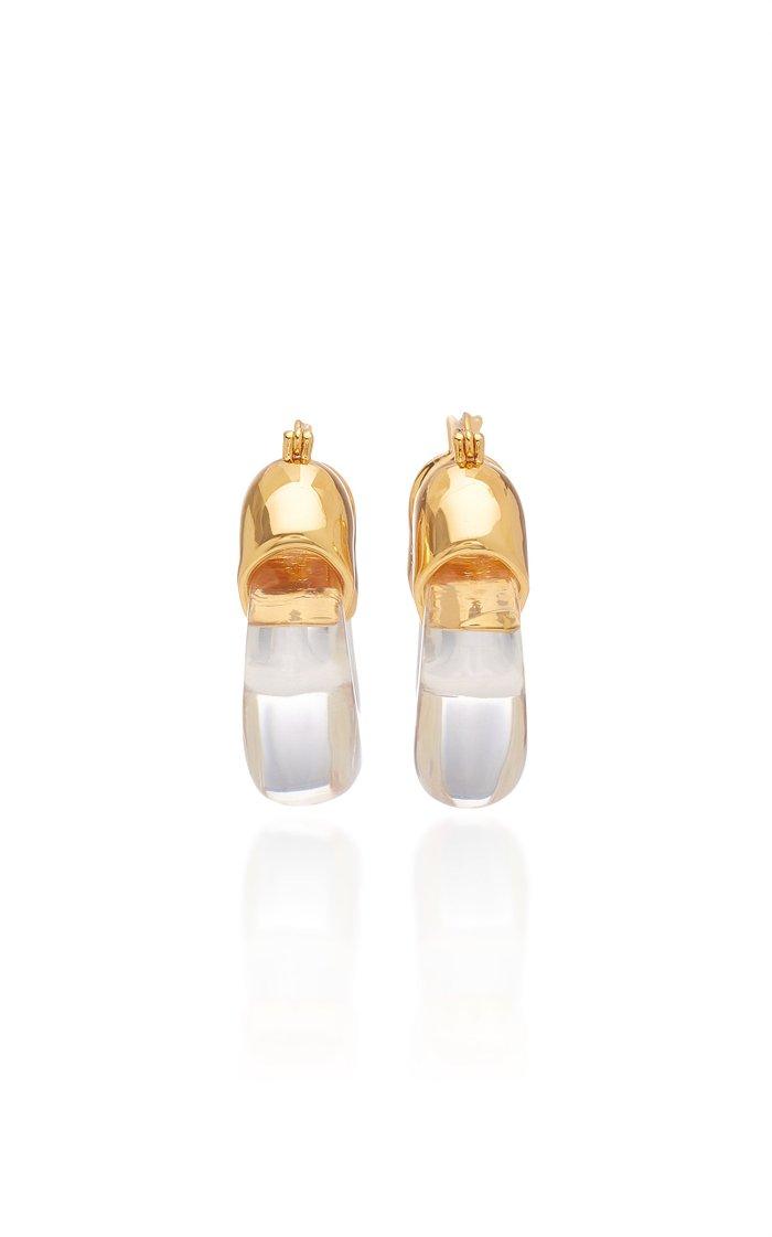 Clear Organic Acrylic Hoop Earrings