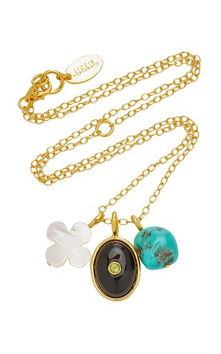 Black Oasis Gold-Plated Multi-Stone  Necklace