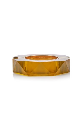 Faceted Resin 18K Gold-Plated Bracelet