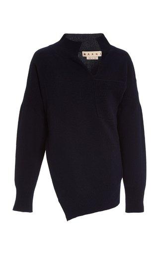 Asymmetric Cashmere-Wool Sweater