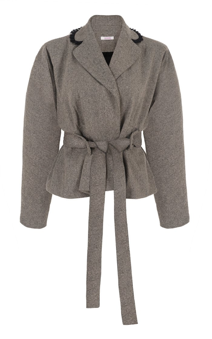 Let Is Rain Down On Me Belted Wool-Blend Jacket