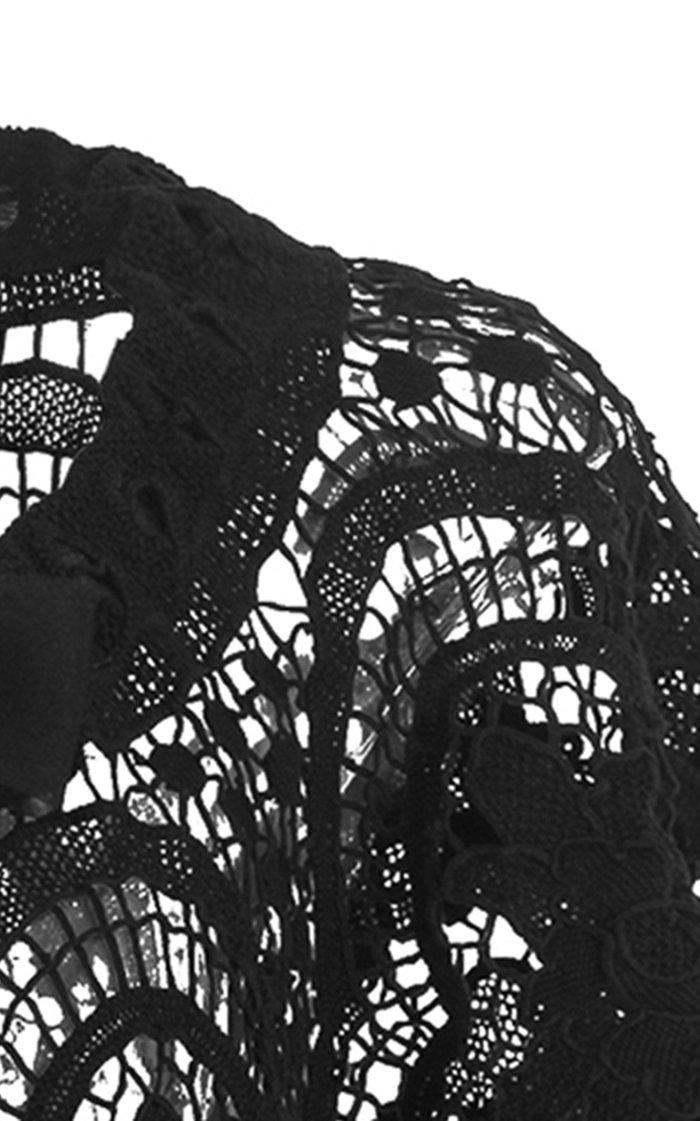 The Rising Sun Crocheted Cotton Cape