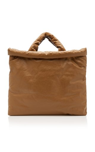 Oil Padded Coated Cotton-Blend Tote Bag