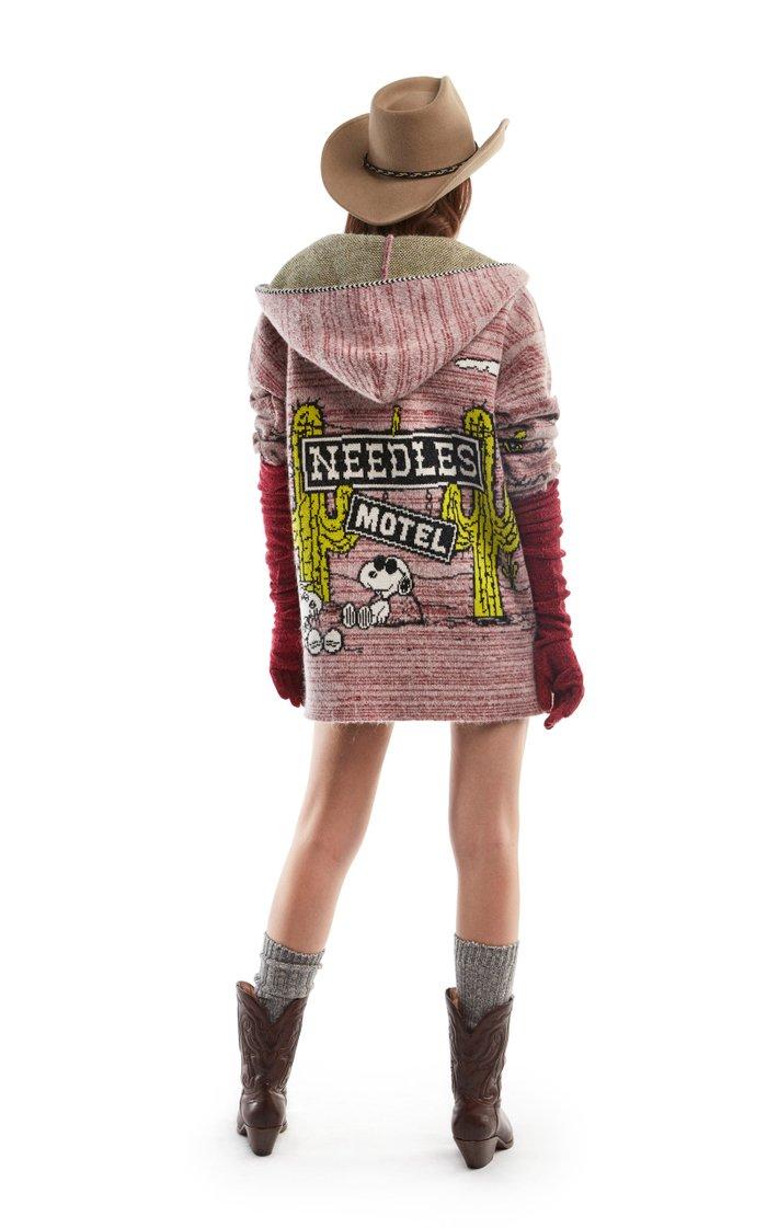 Snoopy Needles Motel Wool-Blend Hooded Cardigan