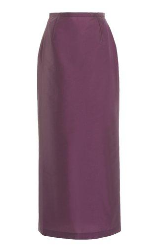 Norma Taffeta Midi Skirt