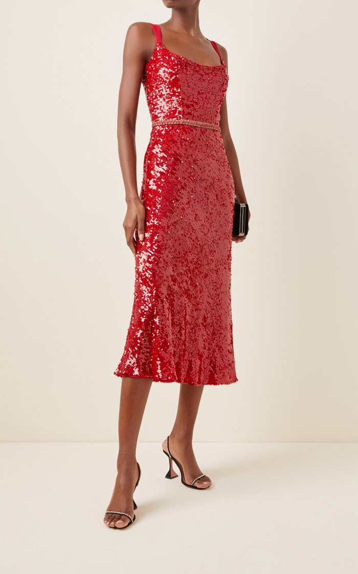 Excluive Sequined Midi Dress