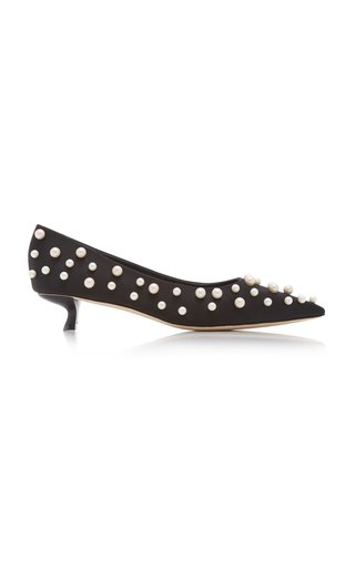 Roxy Embellished Leather Pumps