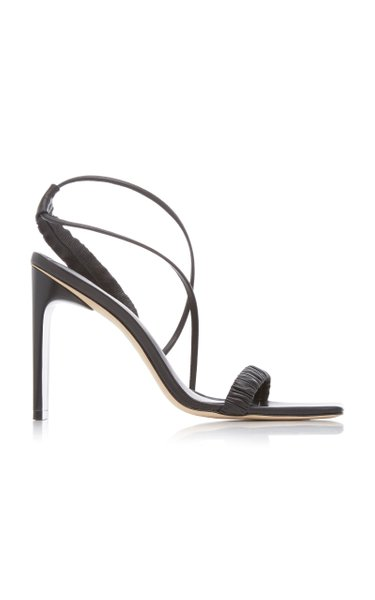 Abella Ruched Leather Sandals