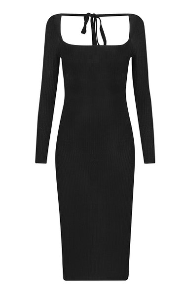 Ribbed-Knit Wool-Blend Dress
