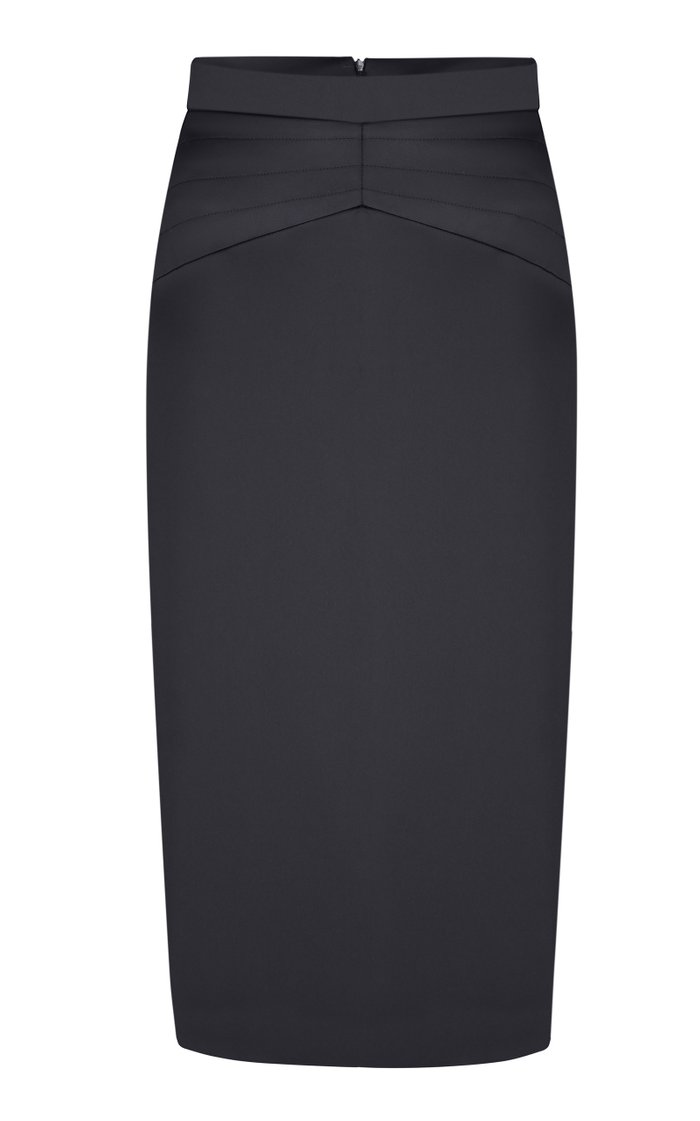 High-Rise Satin Pencil Skirt