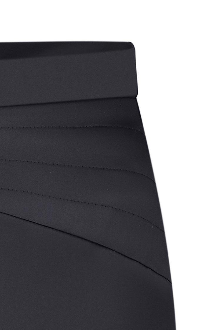 High-Rise Satin Pencil Skirt