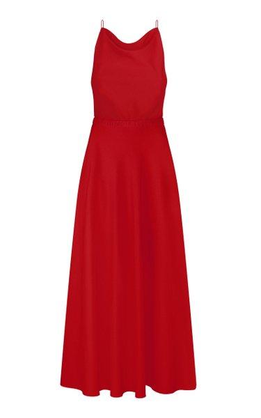 Open-Back Crepe Dress