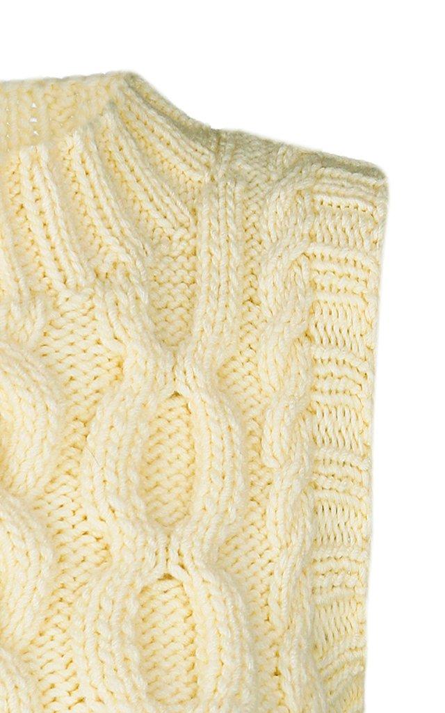 Cable-Knit Wool-Blend Vest